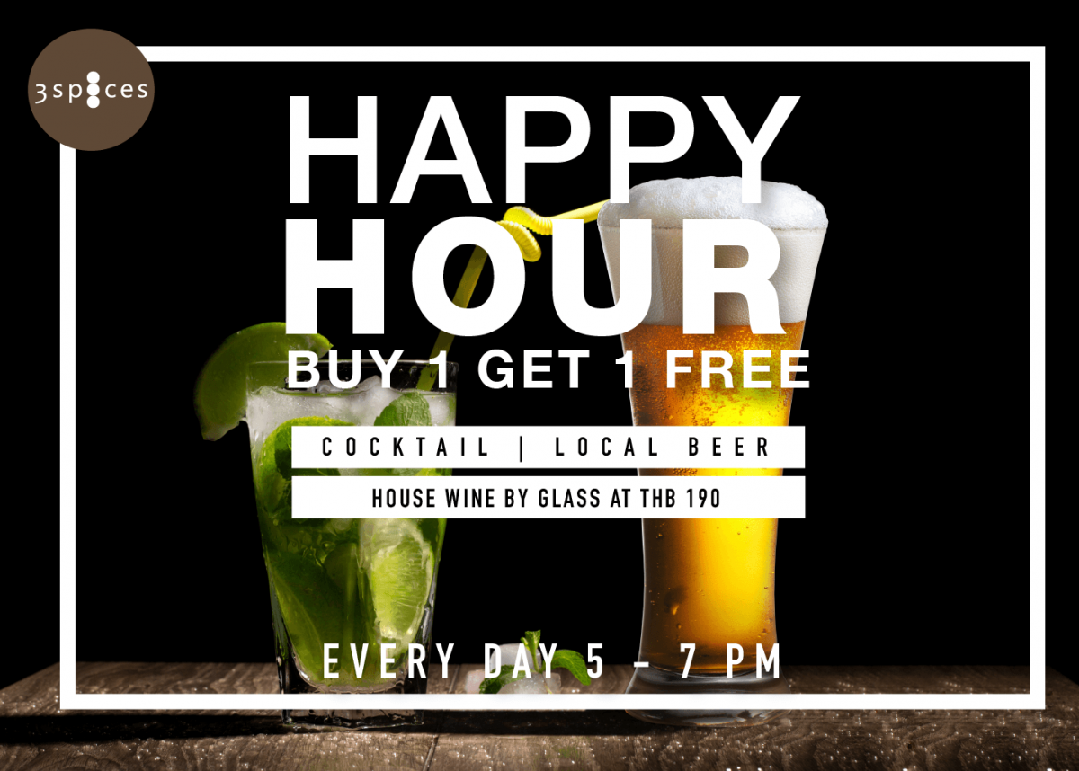 Happy Hour 3 Spice banner