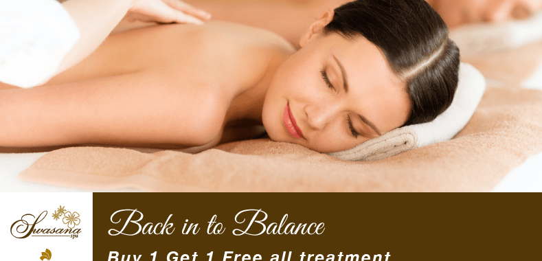 Back in to balance - buy 1 get 1 free