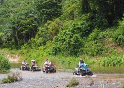 Program E4 Elephant camp, rafting 5 km, ATV 1 hour