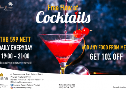 Free Flow of Cocktails