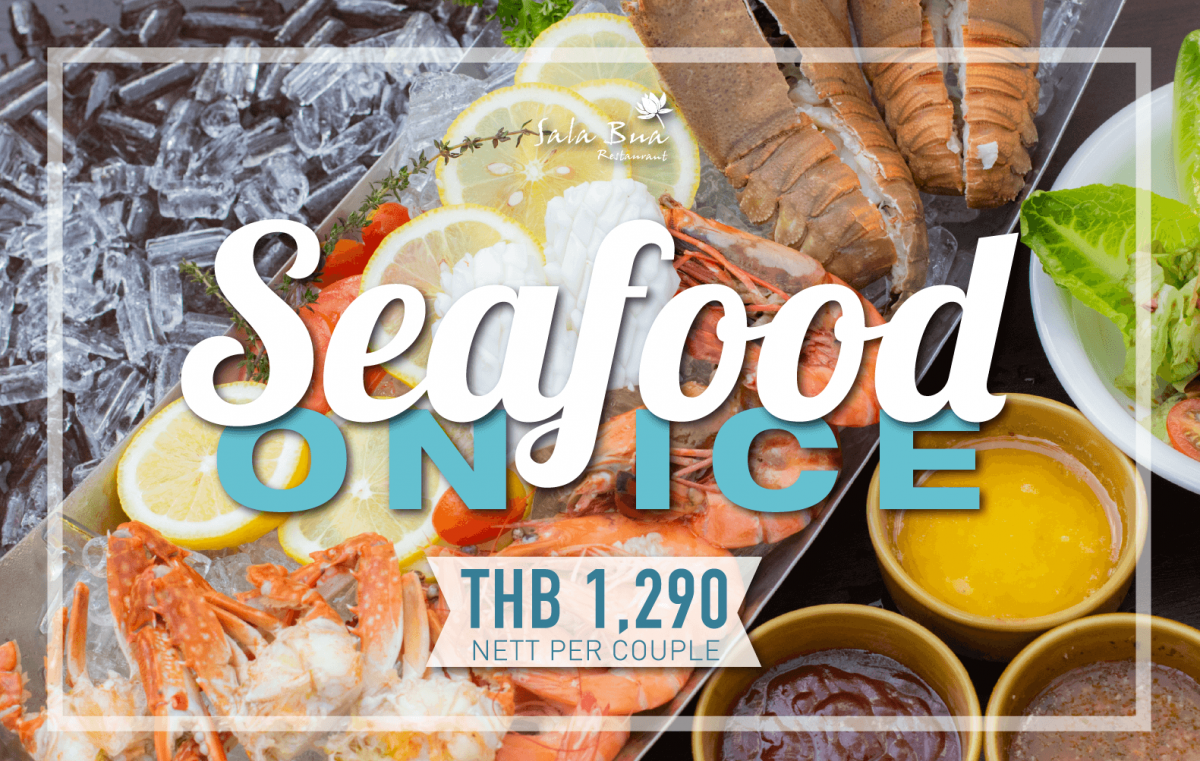 Seafood on ice banner