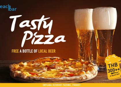 Tasty Pizza at Beach Bar