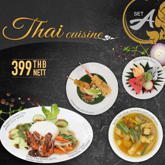 Thai set menu at Sala Bua restaurant