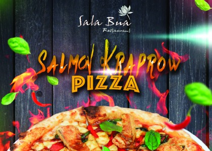 Salmon Kra-Praw Pizza